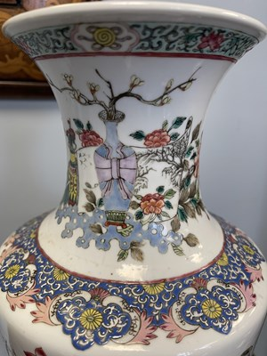 Lot 399 - A FINE PAIR OF 19TH CENTURY CHINESE FAMILLE...