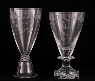 Lot 9 - TWO 19TH CENTURY WINE GLASSES
