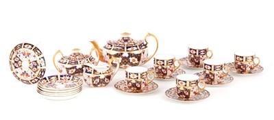 Lot 42 - A LATE 19TH CENTURY IMARI PATTERN ROYAL CROWN DERBY TEA SET