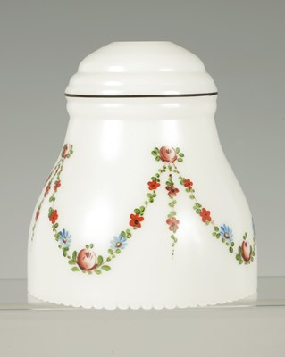 Lot 17 - A 20TH CENTURY OPAQUE GLASS LAMP SHADE