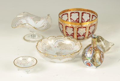 Lot 7 - A SELECTION OF GLASSWARE