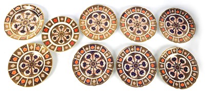 Lot 41 - A SELECTION OF NINE 20TH CENTURY CROWN DERBY PLATES